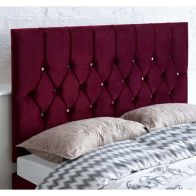 See more information about the Catherine Lansfield Boutique Red 6ft Super King Size Bed Headboard