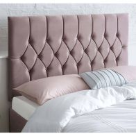 See more information about the Catherine Lansfield Boutique Pink 6ft Super King Size Bed Headboard