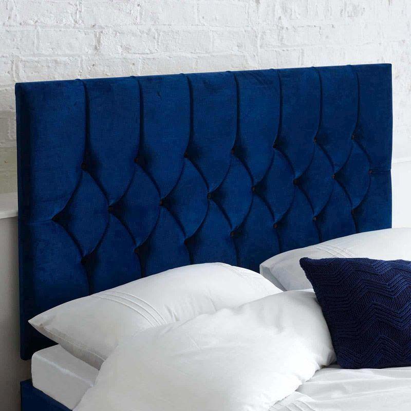designer fashion b10b6 4405a Catherine Lansfield Headboard Dark Blue King Size