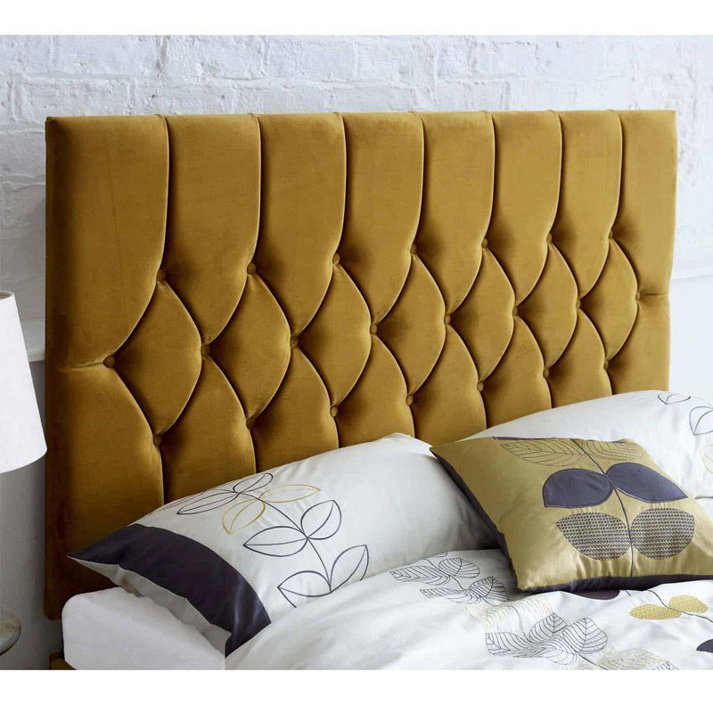 newest 698f9 bcb10 Catherine Lansfield Headboard Yellow Super King