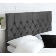 See more information about the Catherine Lansfield Boutique Grey 6ft Super King Size Bed Headboard