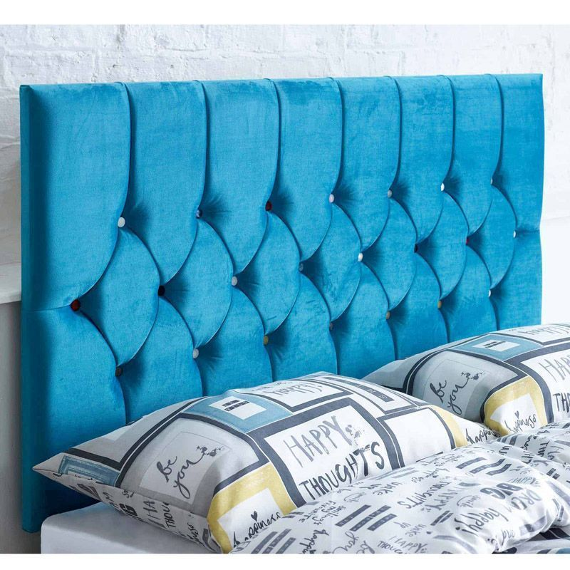 Catherine Lansfield Headboard Blue Small Double