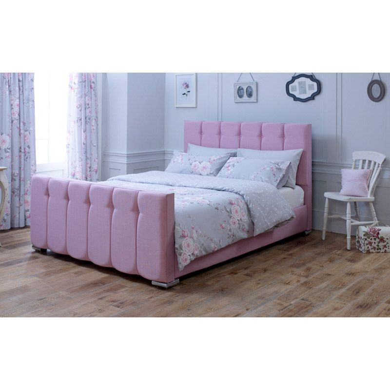 Lansfield Canterbury Velvet Pink 3ft Single Bed Frame