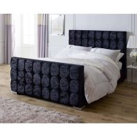 See more information about the Catherine Lansfield Gatsby Single Bed Black Velvet
