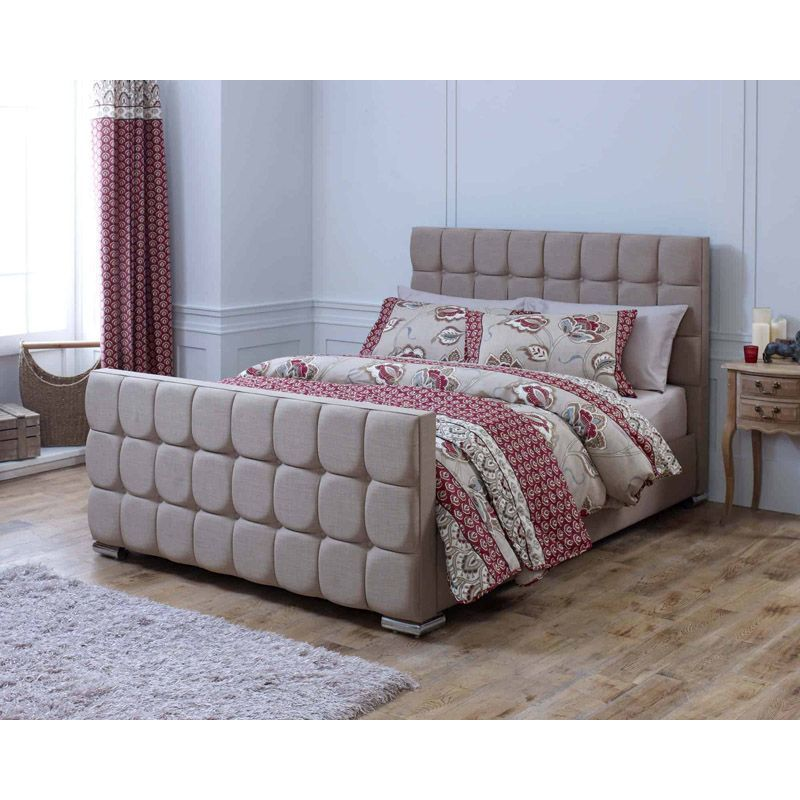 Lansfield Gatsby Velvet Brown 3ft Single Bed Frame