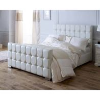 See more information about the Catherine Lansfield Gatsby Velvet White 4ft Queen Size Bed Frame
