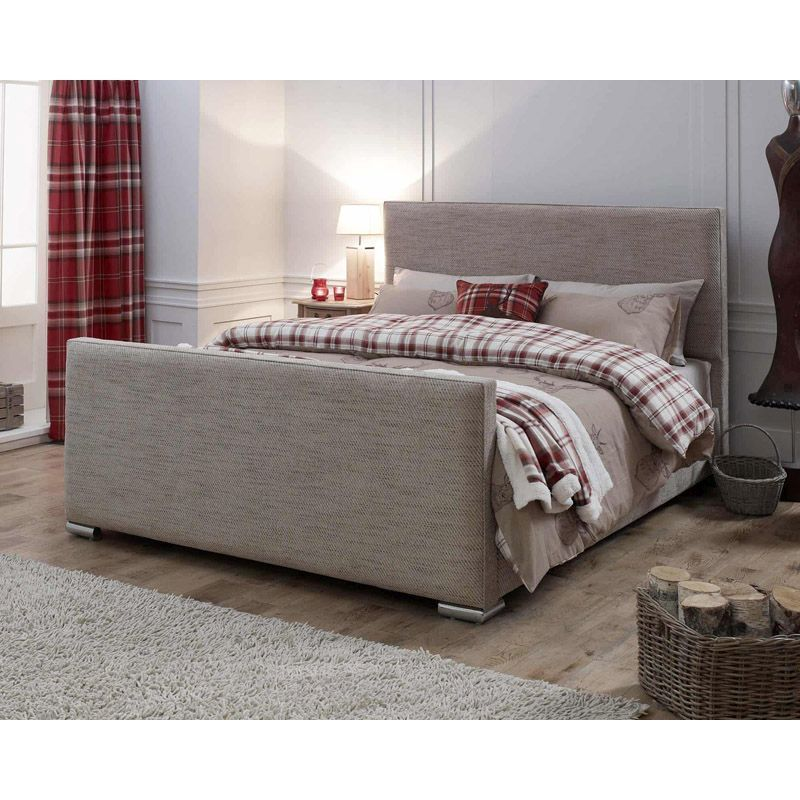 Lansfield Heritage Pine Brown 5ft King Size Bed Frame