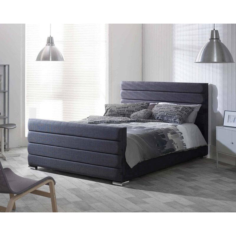 Lansfield Scandi Pine Black 4ft Small Double Bed Frame