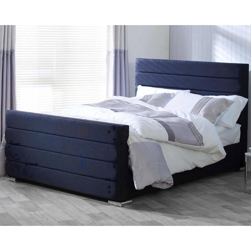 Lansfield Scandi Pine Black 4ft 6in Double Bed Frame