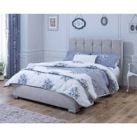 See more information about the Catherine Lansfield Canterbury Classic Silver 4ft Queen Size Bed Frame