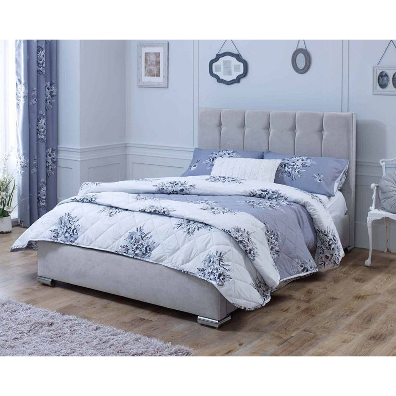 Lansfield Canterbury Classic Pine Silver 4ft 6in Double Bed Frame