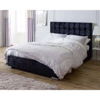 See more information about the Catherine Lansfield Gatsby Classic Pine Black 4ft Queen Size Bed Frame