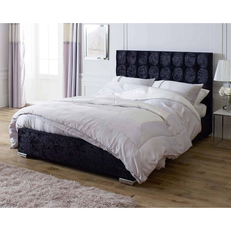 Lansfield Gatsby Classic Pine Black 5ft King Size Bed Frame