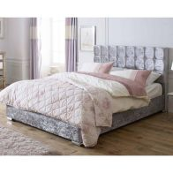 See more information about the Catherine Lansfield Gatsby Classic Silver 4ft Queen Size Bed Frame