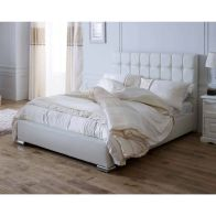 See more information about the Catherine Lansfield Gatsby Classic Pine White 4ft Queen Size Bed Frame