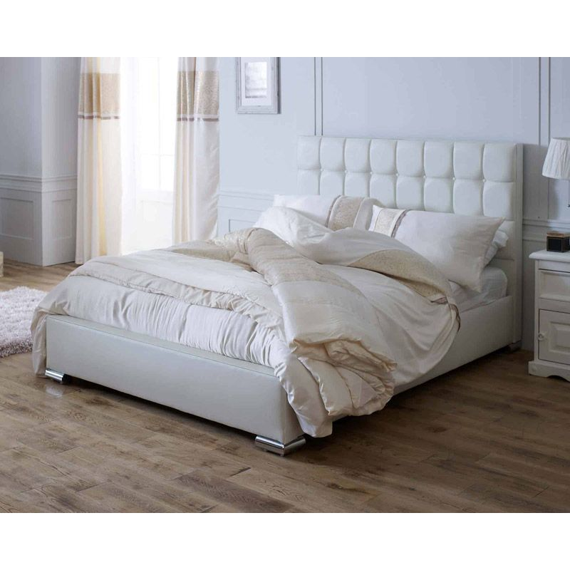 Lansfield Gatsby Classic Pine White 4ft 6in Double Bed Frame