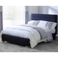 See more information about the Catherine Lansfield Scandi Classic Pine Black 4ft Queen Size Bed Frame