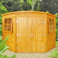 See more information about the Shire Corner Shiplap Garden Shed 8' x 8'