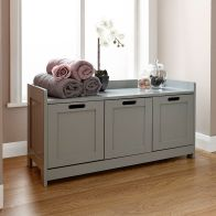 See more information about the Colonial Storage Bench Grey 3 Drawer
