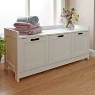 See more information about the Colonial Storage Bench White 3 Drawer