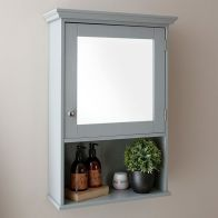 See more information about the Colonial Cabinet Grey 1 Door 3 Shelf With Mirror