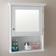See more information about the Budget Cabinet White 1 Door 3 Shelf