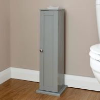 See more information about the Colonial Slim Cabinet Grey 1 Door 2 Shelf