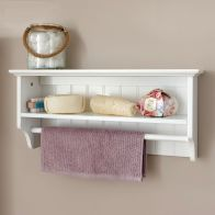 See more information about the Colonial Wall Shelving Unit White 1 Shelf With Towel Rail