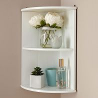 See more information about the Colonial Corner Shelving Unit White 2 Shelf
