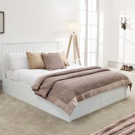 See more information about the Como Single Ottoman Bed White