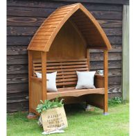 See more information about the AFK Premium Cottage Arbour Beech Stain 2 Seat