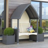 See more information about the AFK Premium Cottage Arbour Charcoal & Cream 2 Seat