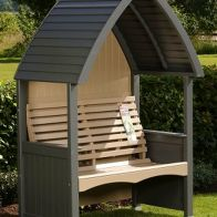 See more information about the AFK Premium Cottage Arbour Charcoal & Nutmeg 2 Seat