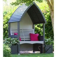 See more information about the AFK Premium Cottage Arbour Charcoal & Stone 2 Seat
