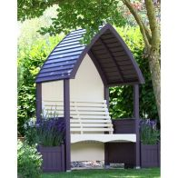 See more information about the AFK Premium Cottage Arbour Lavender & Cream 2 Seat