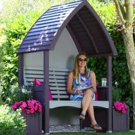 See more information about the AFK Premium Cottage Arbour Lavender & Stone 2 Seat