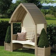 See more information about the AFK Premium Cottage Arbour Nutmeg & Cream 2 Seat