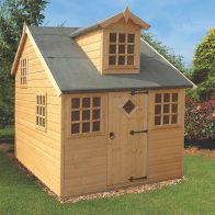 See more information about the Shire Enchanted Cottage Garden Playhouse (6' x 8')