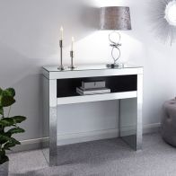 See more information about the Venetian Console Table Mirrored 1 Shelf