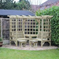 See more information about the Croft Clementine 4 Seat Garden Arbour