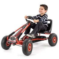See more information about the Xootz Go-Kart Large Red & Black Pedal Handbrake Gear Rubber Tyres