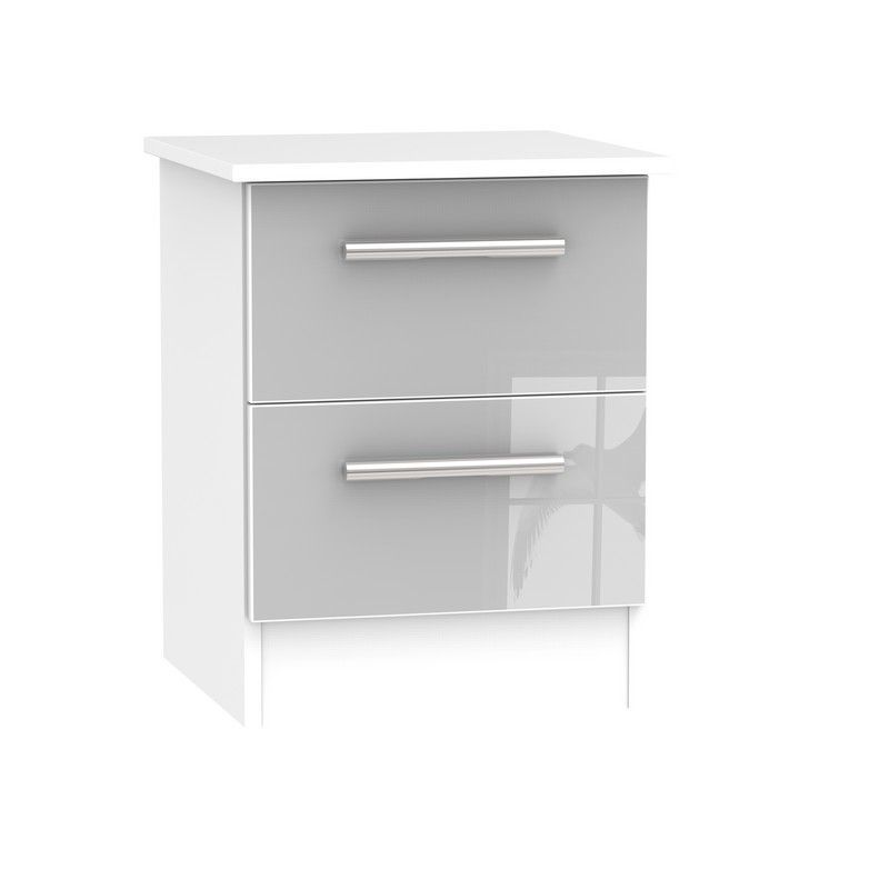 Buxton Bedside Grey 2 Drawers