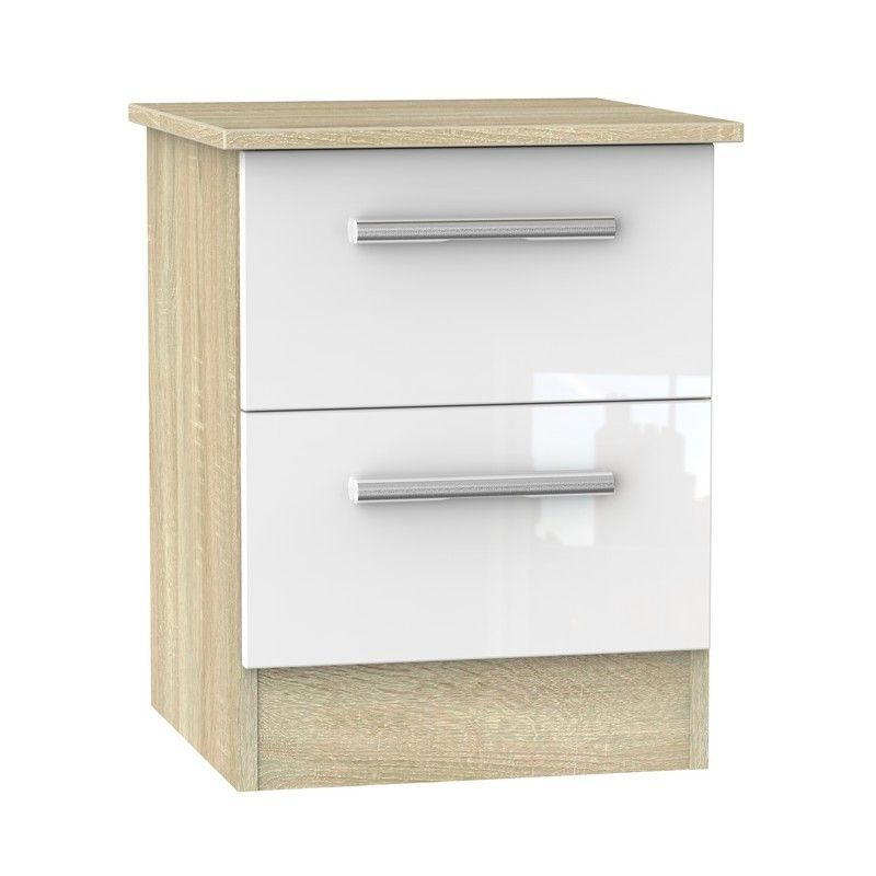 Buxton Bedside White 2 Drawers