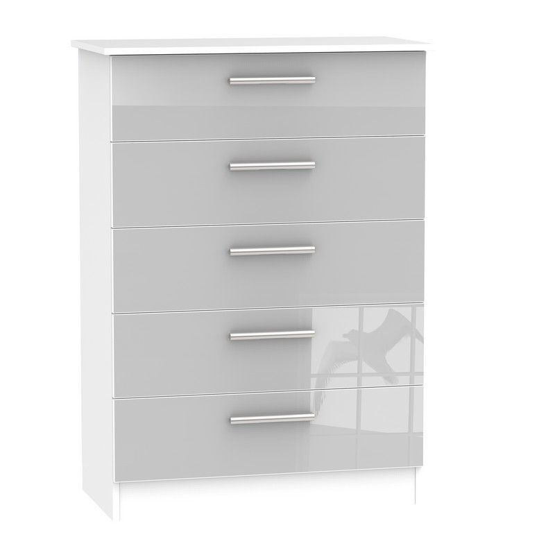 Buxton Grey Chest Of 5 Drawers