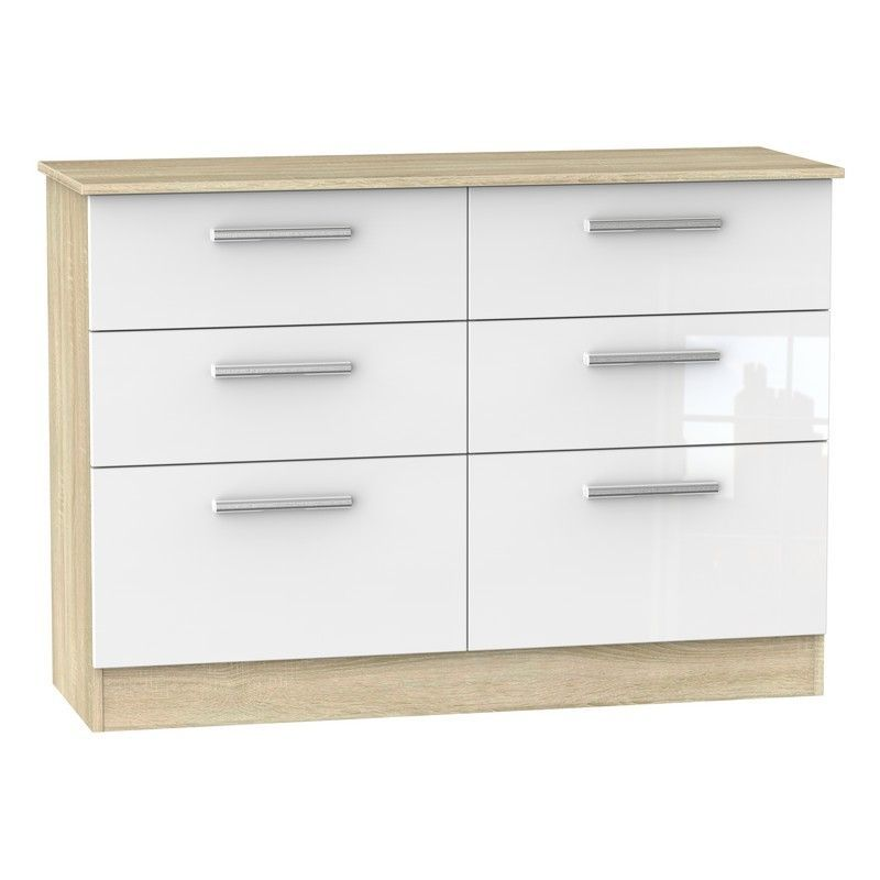 Buxton White Chest Of 6 Drawers