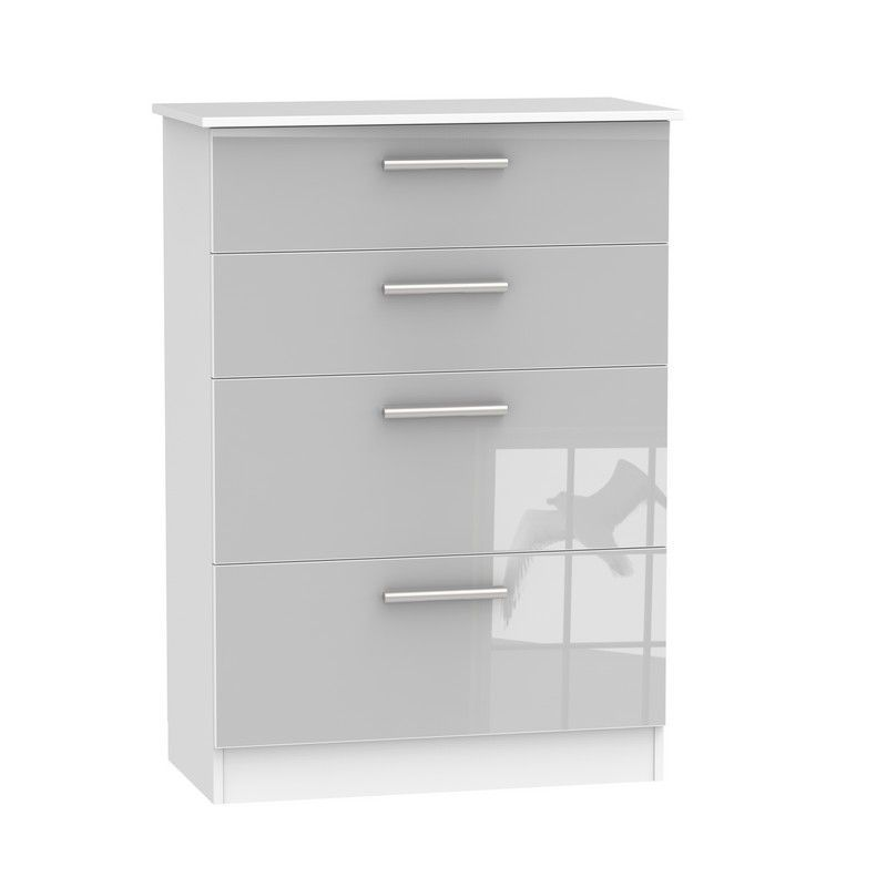 Buxton Grey Deep Chest Of 4 Drawers