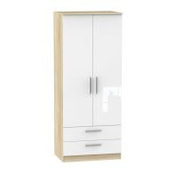 See more information about the Buxton Wardrobe White 2 Door 2 Drawer