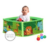 See more information about the Baby Safari Pop Up Play Pen Ball Pit Pool Including 50 Balls