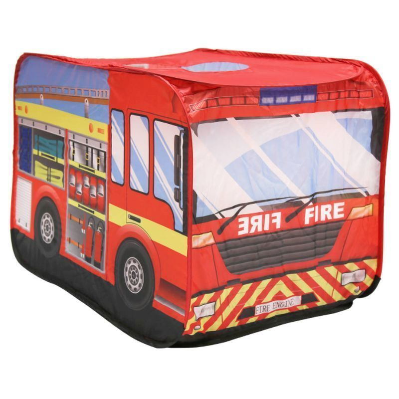 Fire Engine Play Tent Indoor Outdoor Polyester Pop Up