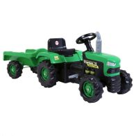 See more information about the Dolu Ride On Green Tractor With Trailer